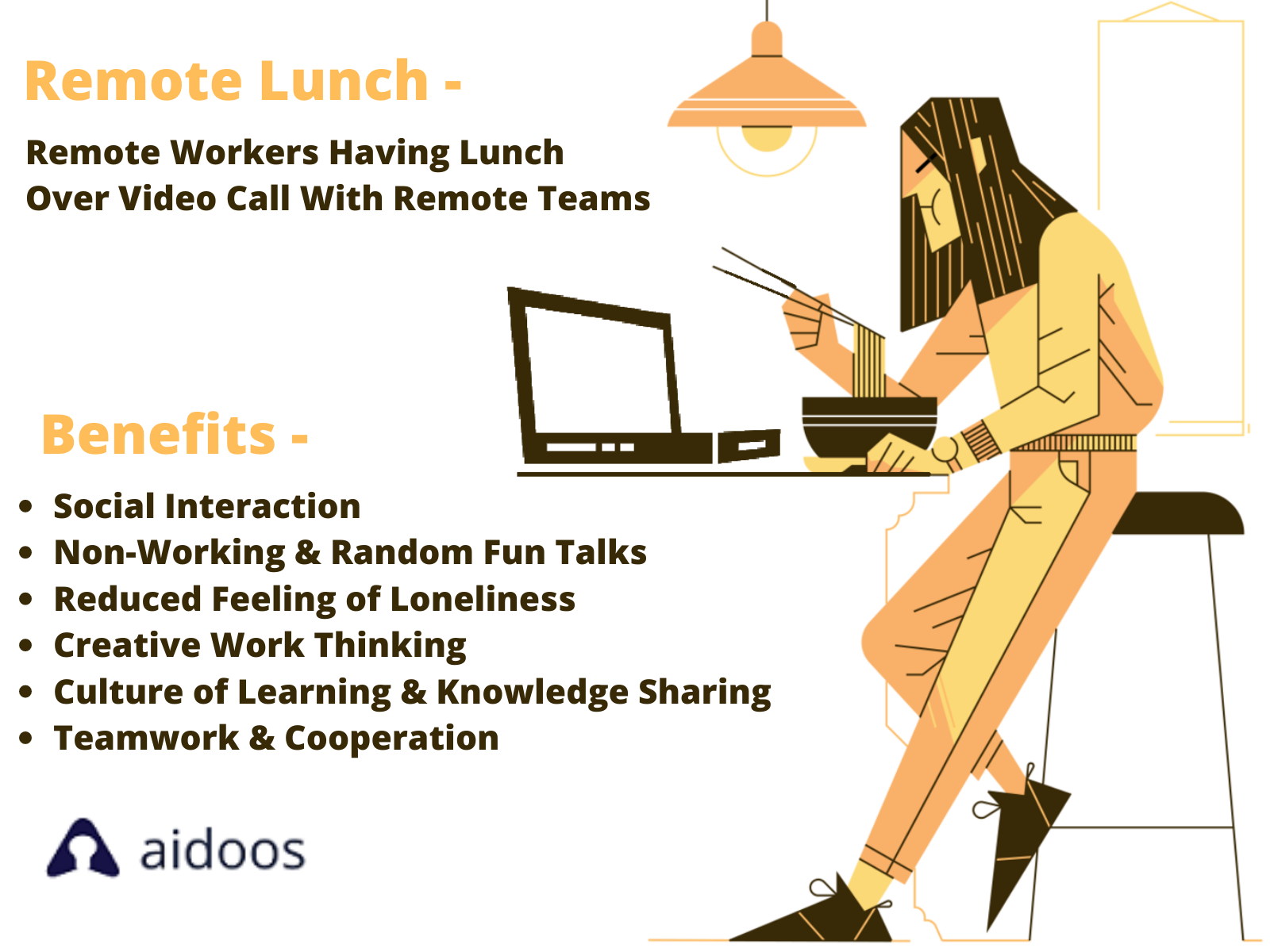 Remote Lunch & Learn and Virtual Coffee Breaks - Benefits, Challenges and Solutions